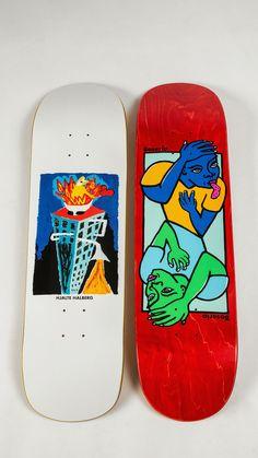 New styles from the north ❄ The Polar Skate Co. Fall drop is bringing new decks Custom Skateboard Decks, Painted Skateboard, Skateboard Deck Art, Skateboard Shop, Custom Skateboards, Skateboard Design, Cool Skateboards, Skate Wallpaper, Skate Logo