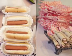 you can never go wrong with hot dogs at a circus party!! and carmel/candy apples too!