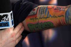 """Love Ed's tattoos. """"everything that happens is from now on"""" is a good reminder."""