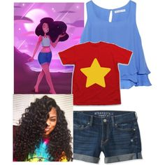 Stevonnie Universe by diamondj04 on Polyvore featuring polyvore fashion style Chelsea Flower Aéropostale