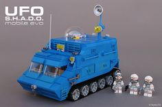 Saving the world in this totally awesome and totally blue APC