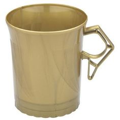 disposable gold mugs for the soup so guests dont have to carry bowls and spoons