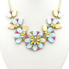 Bubble Necklace Colorful  Bib Necklace Chunky by EllenJewelry, $21.99