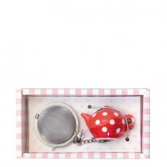 GreenGate Tea Infuser Amelie - Red | Occa-Home.co.uk