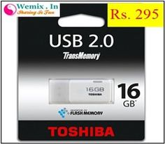 Toshiba Hayabusa 16 GB Pen Drive White Rs 295 Memory Storage, Usb, Memories, Memoirs, Souvenirs, Remember This