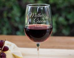 Engraved Mother of the Groom Wine Goblet - Engraved - Personalized - Custom - Gift