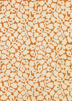 Bastide by Manuel Canovas Flower Patterns, Print Patterns, Stencils, Fabrics, Textiles, Silhouette, Orange, Interior Design, Chair