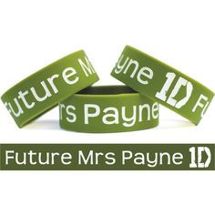 SALE PRICE TODAY - Future Mrs Liam Payne One Direction Wristband... ($8.88) ❤ liked on Polyvore