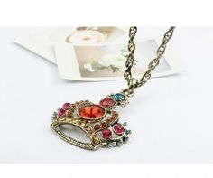 Crown Shaped Design Retro Style Necklace    $2.85
