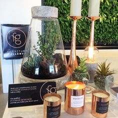 Changing it up on the counter today with our favourite copper & concrete accents  @cocolux_australia