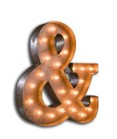 Vintage Marquee Light Ampersand