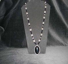 Black Onyx Gemstone Jewelry Big and Bold Necklace