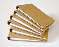 Kraft matchbook notepads Handmade matchbook by LoveSweetCaroline, $1.25