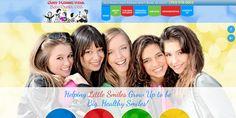 #sesamewebdesign #psds #dental #pediatric #responsive #blue #green #red #yellow #texture #topnav #top-nav #fullwidth #full-width #circles #sans #script #sticky #whimsical