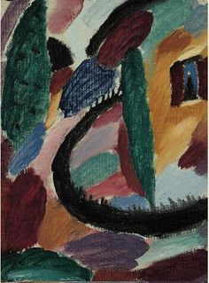 'Variation with Fence' (ca.1915) by Alexei Jawlensky