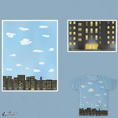 Night and day, Walking man on Threadless