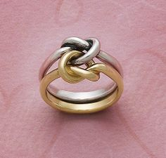 Intertwined - Original Lover's Knot Ring #JamesAvery #LoversKnotRing #Love #SilverAndGold