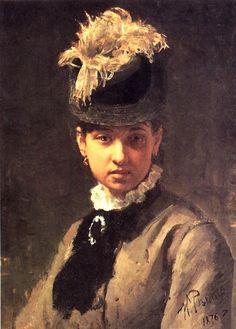Ilia Répine 1844-1930 Russe, Vera Repina l'épouse de l'artiste (1876)