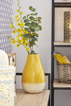 Shop for Wilko Ochre Bulbous Vase at wilko - where we offer a range of home and leisure goods at great prices. Living Room Decor, Living Spaces, Living Rooms, Aw18 Trends, Wine Bottle Centerpieces, Green Office, Lounge Decor, Home Decor Pictures, Displaying Collections