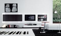 Modernos móveis para a parede - Decoração e Ideias