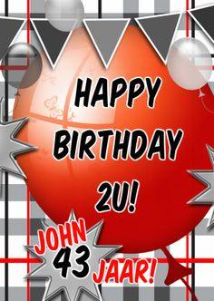 ballonnen plaats zelf tekst d - Verjaardagskaarten - Kaartje2go