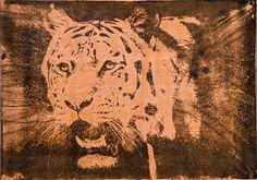 Tiger Moose Art, Copper, Prints, Animals, Animales, Animaux, Animal, Brass, Animais