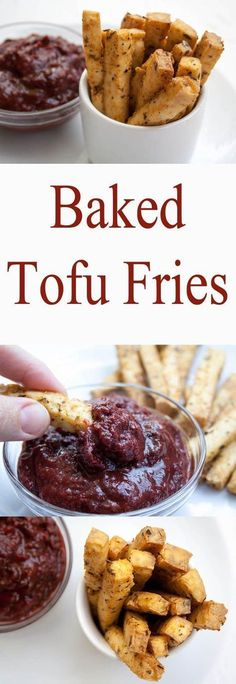 Baked Tofu Fries (vegan, gluten free) - These addictive fries are crispy on the outside, and soft on the inside. Even tofu haters will love them!