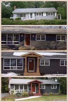 Brick bungalow remodel craftsman style 16 Ideas - Home & DIY Ranch Exterior, Bungalow Exterior, Exterior Remodel, Cafe Exterior, Exterior Signage, Craftsman Exterior, Exterior Design, House With Porch, House Front