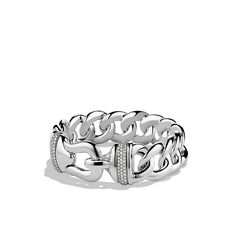 Cable Buckle bracelet with diamonds.