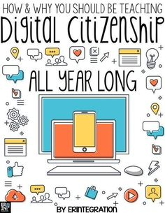 Check out these digital citizenship and internet safety lessons to use all year long! Learn how to keep digital citizenship at the forefront whenever students use technology in the classroom with these digital citizenship posters, digital citizenship acti Technology Posters, Technology Lessons, Teaching Technology, Educational Technology, Digital Technology, Technology Design, Technology Wallpaper, Technology In Classroom, Technology Websites