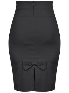 Bow Back Pencil Skirt - Black - Retro Pin Up Stretchy Lifestyle – Double Trouble Apparel Mode Style, Style Me, Classy Style, Pencil Skirt Black, Pencil Skirts, Pencil Dresses, Pencil Skirt Outfits, Women's Skirts, Mode Outfits
