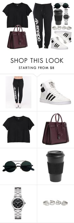 """""""Style #11137"""" by vany-alvarado ❤ liked on Polyvore featuring adidas, Monki, Yves Saint Laurent, Homage and Marc Jacobs"""