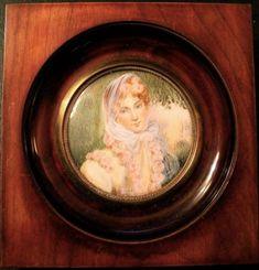 PORTRAIT MINIATURE de Marie-Louise d'Autriche