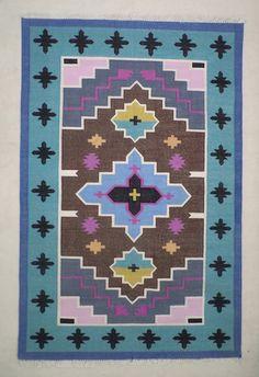 bohemian cotton dhurrie rug 4x6 tribal rug navajo rug rug moroccan rug indian rug handwoven rug
