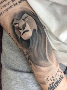 Half of my lion king half sleeve, mufasa himself. Tattoo done by Carlos Pecka at Kai's Tattoo, Norway.