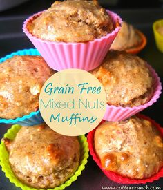 Grain Free Mixed Muffins and Back to School Breakfast Club ideas! http://www.cottercrunch.com/2014/07/breakfast-club-grain-free-mixed-nut-mu...