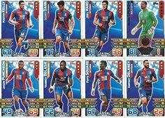 Match Attax 2015/2016 Crystal Palace Team Base Set Plus Star Player, Captain & Away Kit Cards 15/16 #crystalpalace