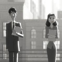 """Um jovem funcionário de escritório encontra em um avião de papel a melhor forma de chamar a atenção da garota por quem se apaixona. Em resumo, essa é a história de """"Paperman"""", curta-metragem da Disney que concorre ao Oscar 2013."""