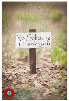 No Soliciting Yard Sign by ExpressionistaB on Etsy, $15.00
