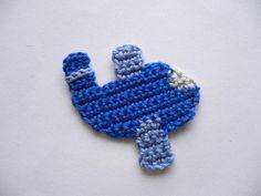 Häkelapplikationen - Flugzeug (klein) - Häkelapplikation - ein Designerstück von Spielkiste bei DaWanda