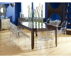 Love the mix of contemporary and traditional here. Boulevard Dining Room with Anime Chairs #CORT