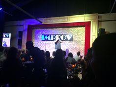 Happily Eating at the Atlanta Improv