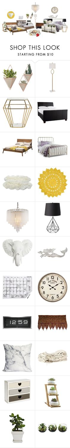 """""""[ GEMINI TV ] GEMINI's new dorms { Mina, AhnJeong, Karen, MiRae & HyeRin's bedroom"""" by xxeucliffexx ❤ liked on Polyvore featuring interior, interiors, interior design, home, home decor, interior decorating, WALL, Safavieh, A.R.T. Furniture and DutchCrafters"""