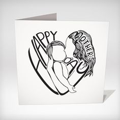 Mother's Day Card. This is an inkjet print of by clarecorfieldcarr