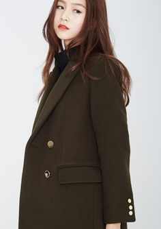 LOOKAST CHAPTER #6 - Khaki double breasted gold button coat