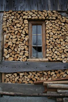 Wood Storage or interesting exterior option Into The Woods, Cabins In The Woods, Cape Cod Collegiate, Cabins And Cottages, Wood Storage, Storage Sheds, Architecture, Firewood, Interior And Exterior