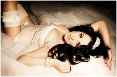 Bridal Boudoir. I could only dream to look this beautiful on our wedding day. :)