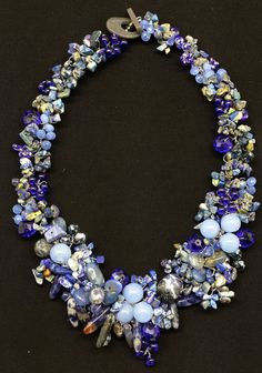 Statement necklace made by a jewelry artist in Manila, Philippines