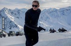 First official image of Daniel Craig as James Bond in SPECTRE - Sölden, Austria