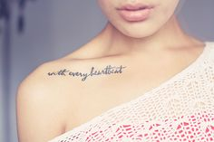 Love everything about this. Especially the placement. ♥ I think I finally found just the right tattoo for my husband